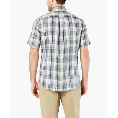 Dockers Short Sleeve Stretch Button-Front Shirt-Big and Tall