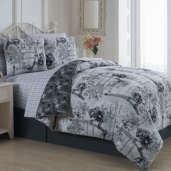 Avondale Manor Amour 8-pc. Reversible Complete Bedding Set with Sheets