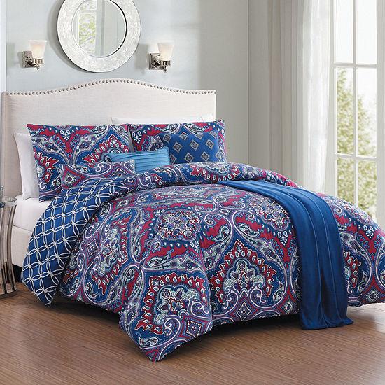 Cantara 7 pc Comforter Set with Throw