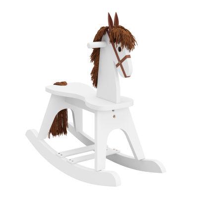 Storkcraft Wooden Rocking Horse - White