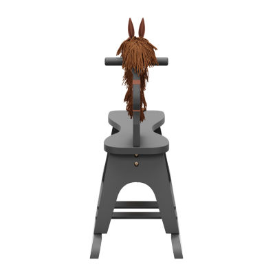Storkcraft Wooden Rocking Horse - Gray