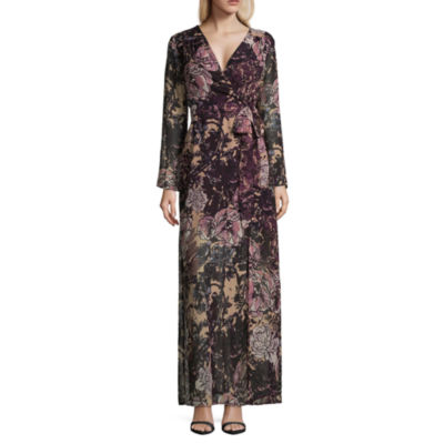 Weslee Rose Long Sleeve Wrap BOHO Maxi