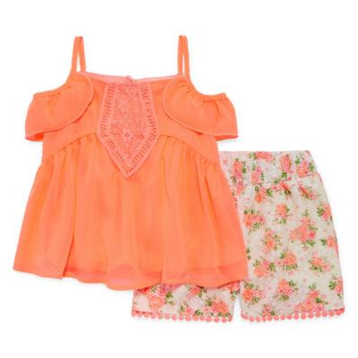 Self Esteem 2-pc. Short Set Toddler Girls