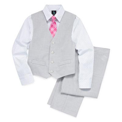"""Steve Harvey Boys 4-pc. Suit Set"""" 4-20"""