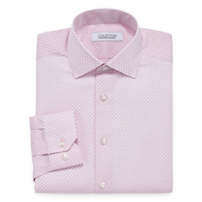 Collection by Michael Strahan Wrinkle Free Cotton Stretch Mens Spread Collar Long Sleeve Dress Shirt