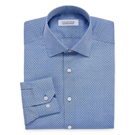 Collection by Michael Strahan Wrinkle Free Cotton Stretch Big And Tall Long Sleeve Woven Dress Shirt
