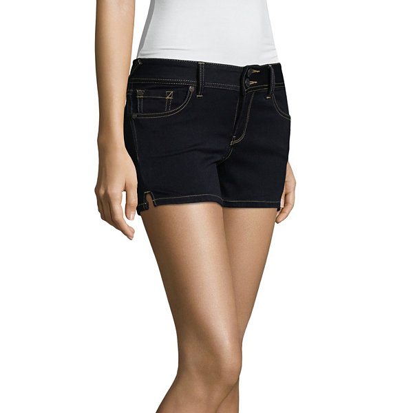 "Wallflower 3"" Denim Shorts-Juniors"