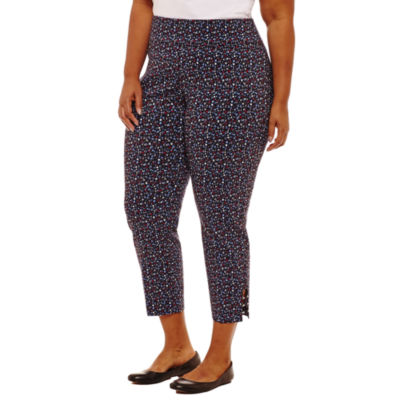 Pull On Ankle Pant with Lattice Studs - Plus