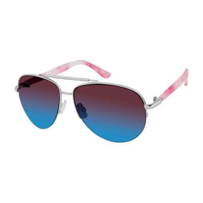 Libby Edelman Full Frame Aviator UV Protection Sunglasses-Womens