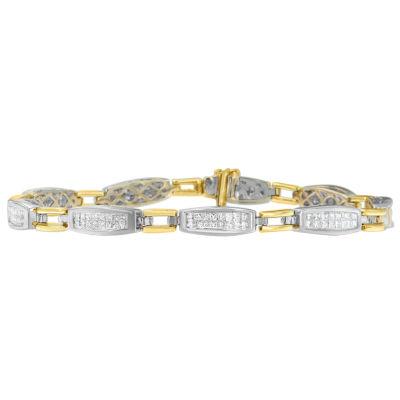 2 CT. T.W. Genuine White Diamond 14K Gold Tennis Bracelet
