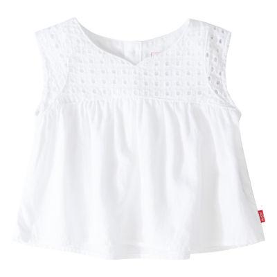 Levi's Girls Round Neck Short Sleeve T-Shirt-Baby