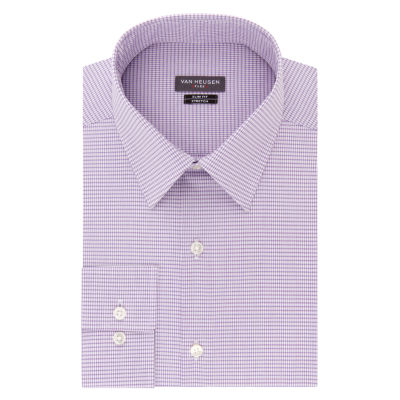 Van Heusen Made To Match Long Sleeve Twill Checked Dress Shirt - Slim
