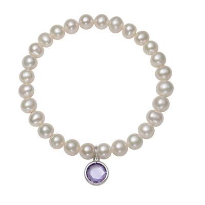 Womens White Stretch Bracelet
