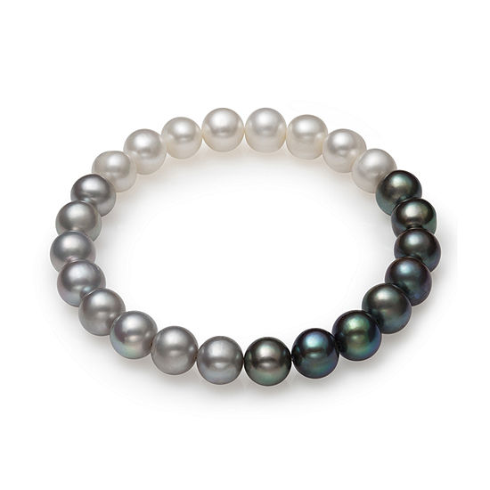 Multi Color Cultured Freshwater Pearl Stretch Bracelet