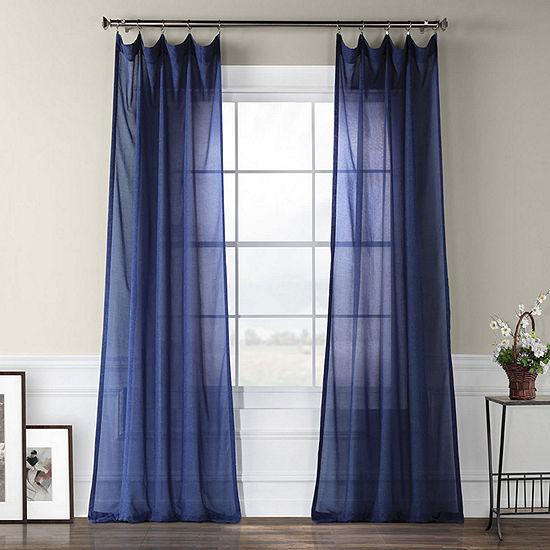 Exclusive Fabrics & Furnishing Faux Linen Sheer Curtain Panel