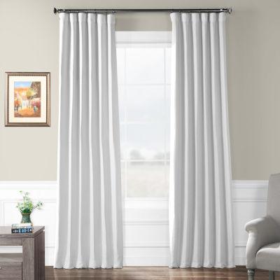 Exclusive Fabrics & Furnishing Swiss Coffee Bellino Blackout Rod-Pocket/Back-Tab Curtain Panel
