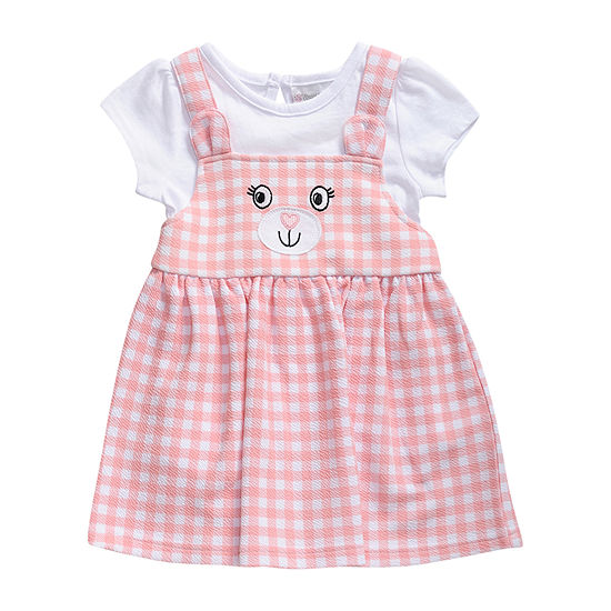 Young Land Girls Sleeveless Gingham A-Line Dress - Baby