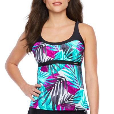 Zeroxposur Leaf Swimsuit Tankini