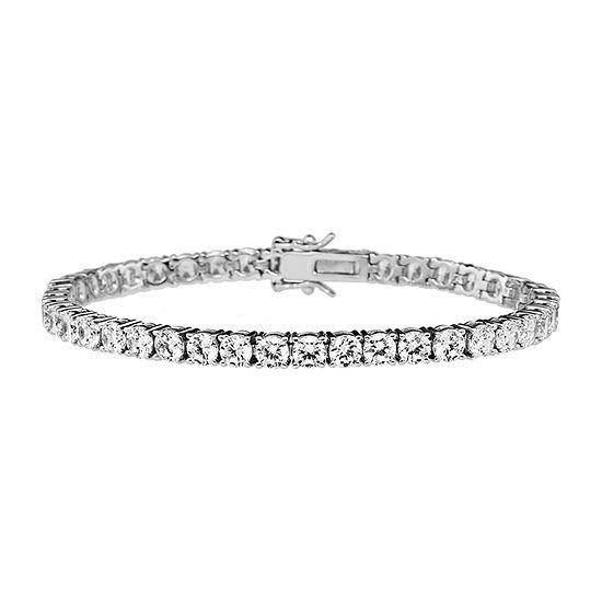 DiamonArt® 11.34 CT. T.W. Cubic Zirconia Sterling Silver Bracelet