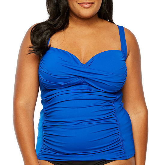 Liz Claiborne Tankini Swimsuit Top Plus