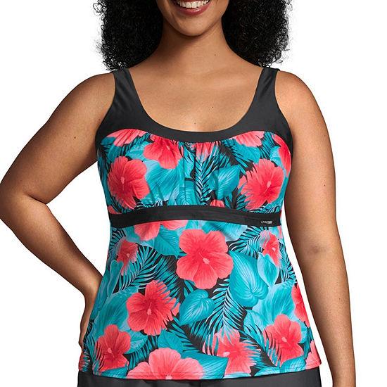 Zeroxposur Floral Tankini Swimsuit Top Plus