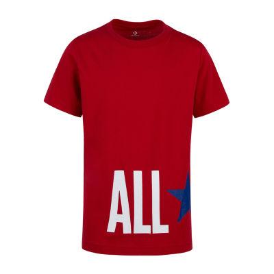 Converse Boys Crew Neck Short Sleeve Graphic T-Shirt