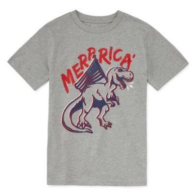 City Streets Boys Crew Neck Short Sleeve Graphic T-Shirt