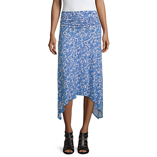 Mixit Womens Mid Rise High Low Handkerchief Skirt
