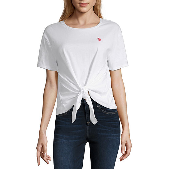 Us Polo Assn. Womens Round Neck Jersey-Juniors