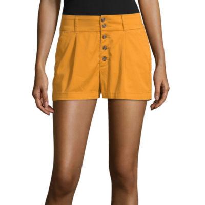 Arizona Womens High Waisted Midi Short-Juniors