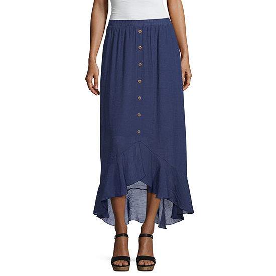 Alyx Womens Elastic Waist Maxi Skirt