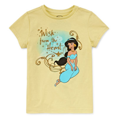 Disney Girls Short Sleeve Jasmine Graphic T-Shirt