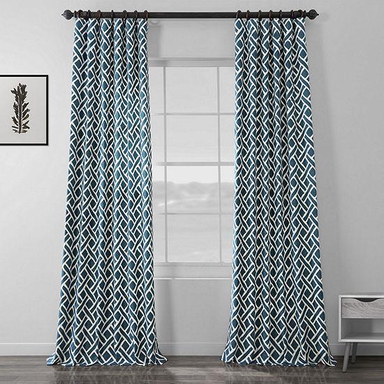 Exclusive Fabrics & Furnishing Martinique 100% Cotton Energy Saving Light-Filtering Rod-Pocket/Back-Tab Single Curtain Panel