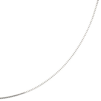 "Silver Reflections™ 16-24"" Silver-Plated Box Chain"