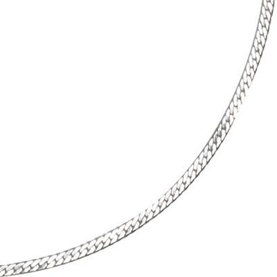 "Silver Reflections™ 16-24"" Silver-Plated Herringbone Chain"