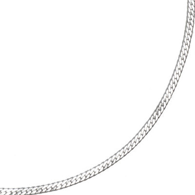 "Silver Reflections™ 18"" Silver-Plated Herringbone Chain"