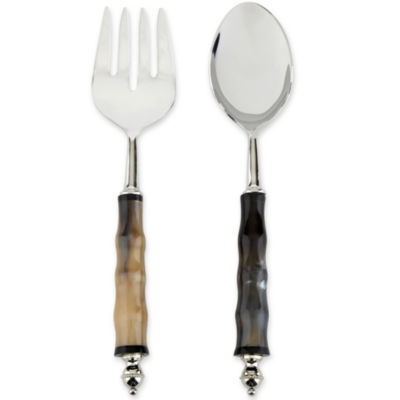 Set of 2 Horn Salad Servers