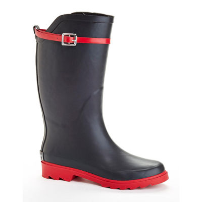 Henry Ferrera Nu Face Belted Tall Rubber Rain Boots