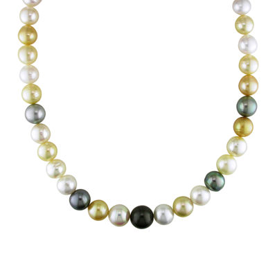 "10-12.5mm Genuine South Sea & Tahitian Pearl 18"" Strand Necklace"