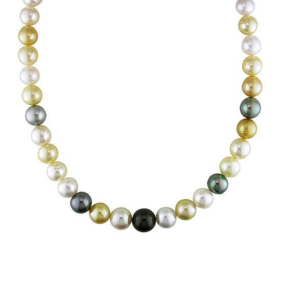 """10-12.5mm Genuine South Sea & Tahitian Pearl 18"""" Strand Necklace"""