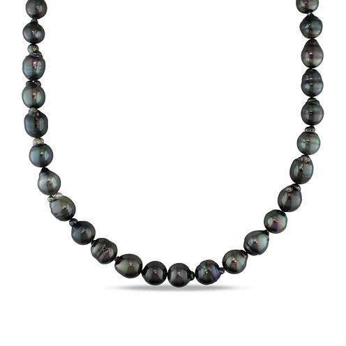 9-11mm Genuine Black Tahitian Pearl Necklace