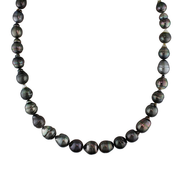 8-10mm Genuine Black Tahitian Pearl Necklace