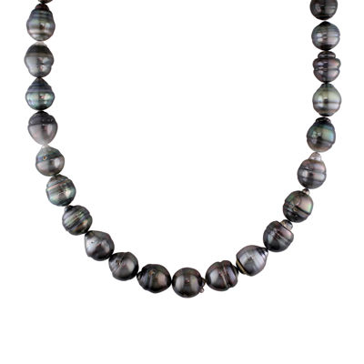 10-13mm Genuine Black Tahitian Pearl Necklace