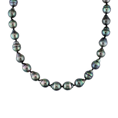 8-9.5mm Genuine Black Tahitian Pearl Necklace