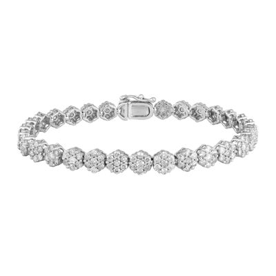diamond blossom 5 CT. T.W. Diamond 14K White Gold Tennis Bracelet
