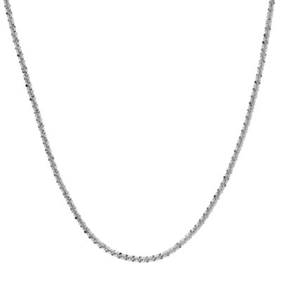 "Made in Italy 14K White Gold 16-20"" 1.4mm Crisscross Chain"