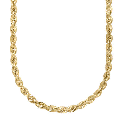 "Infinite Gold™ 14K Yellow Gold 22"" Hollow Rope Chain"