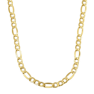 "Made in Italy 14K Yellow Gold 24""  Hollow Figaro Chain"