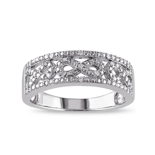 1/10 CT. T.W. Diamond Sterling Silver Infinity Ring