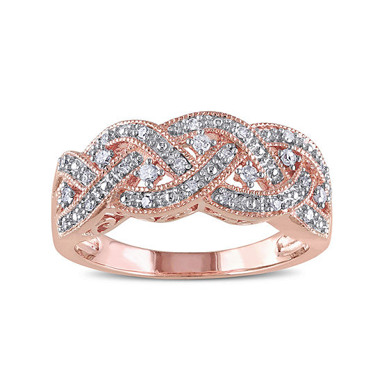 1/8 CT. T.W. Diamond Rose Gold Over Silver Ring